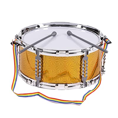 Kalaok Colorful Jazz Snare Drum Musical Toy Percussion Instrument with Drum Sticks Strap for Children Kids: Musical Instruments