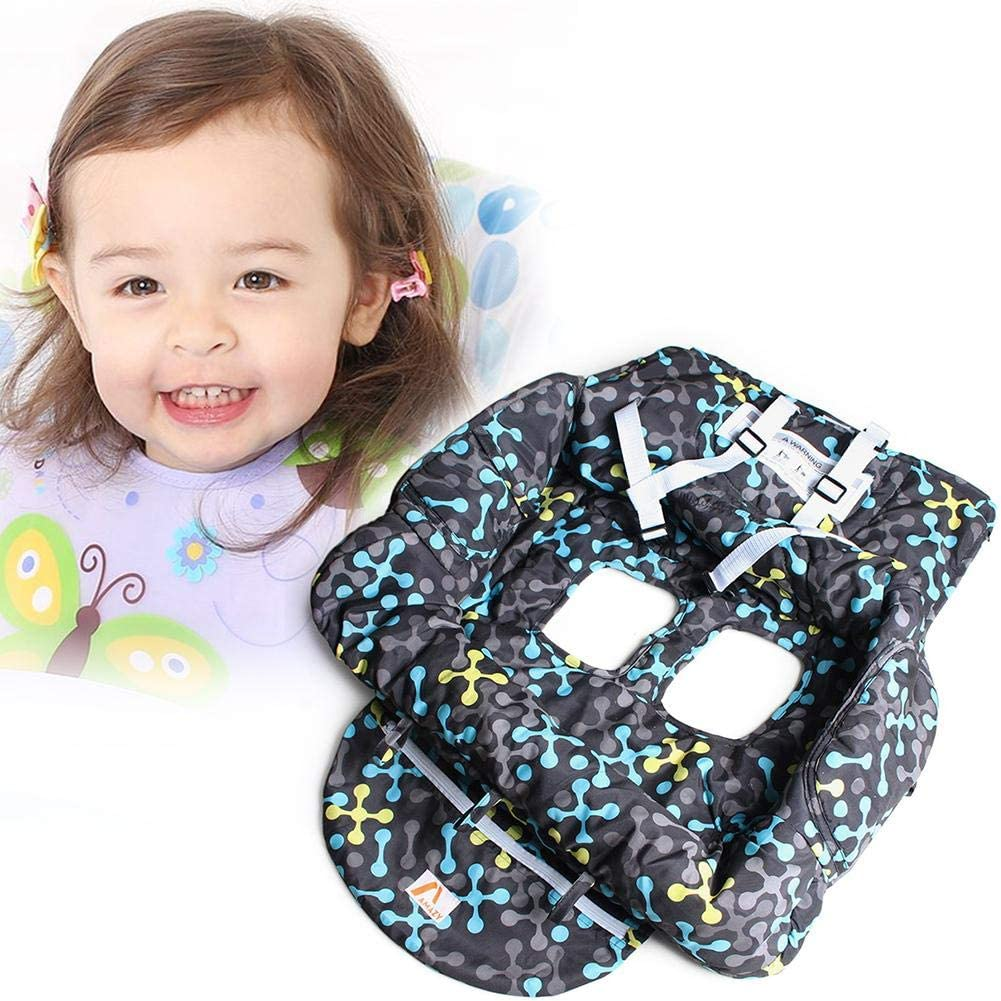 Printed Baby Children Supermarket Shopping Cart Dining Chair Cushion Security Protection Travel Portable Cushion Shopping Cart Cover Universal Fitting Pads