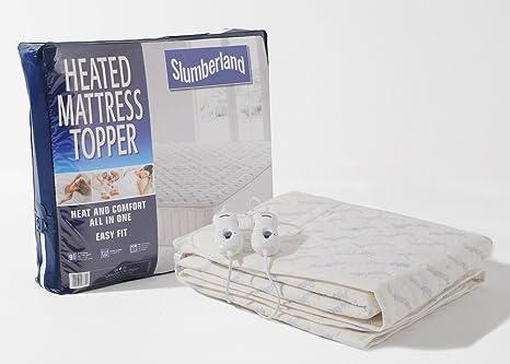 Protector de colchón Slumberland con función calor y control para cama de