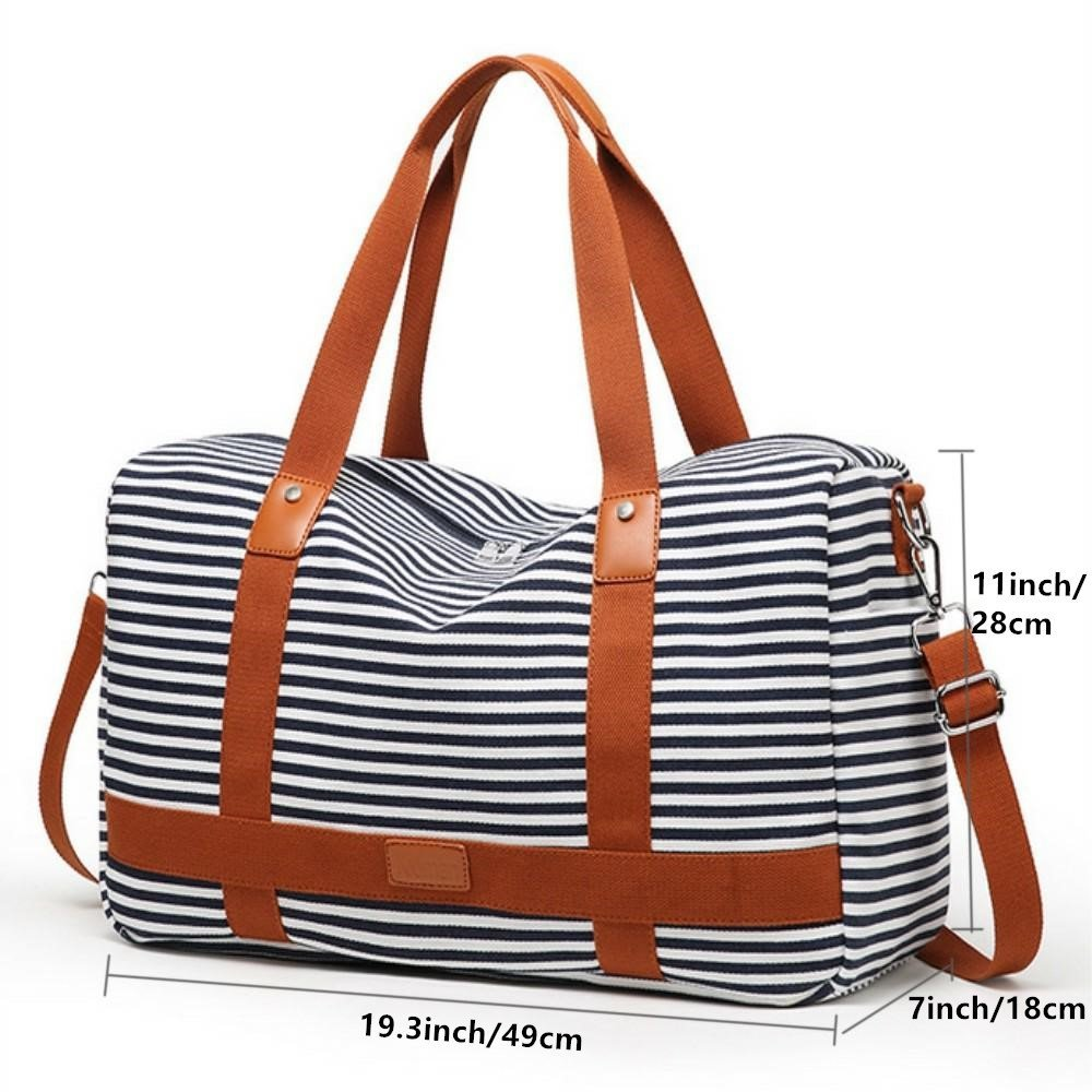 18cb8e7900ac Canvas Overnight Bag for Women Ladies Weekender Travel Bag Carry-on Duffel  Tote Luggage