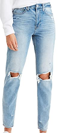 1a9111b366 American Eagle Womens Mom Jean, Cool Classic (16 Regular) at Amazon ...