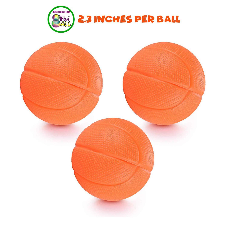 Amazon.com: Juguetes de baño, aros de baloncesto y 3 pelotas ...