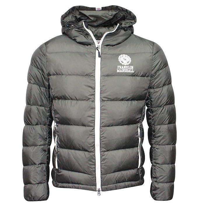 online retailer e88d9 be961 Franklin & Marshall Nylon piumino con cappuccio nero giacca ...