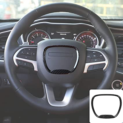 2014 up Jeep Grand Cherokee SRT8 Red, 3pcs 2014 up Durango Voodonala for Challenger Steering Wheel Decoration Trim for 2015 up Dodge Challenger Charger