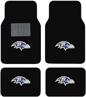 product image for Baltimore Ravens Embroidered Logo Carpet Floor Mats. Wow Logo on All 4 Mats.