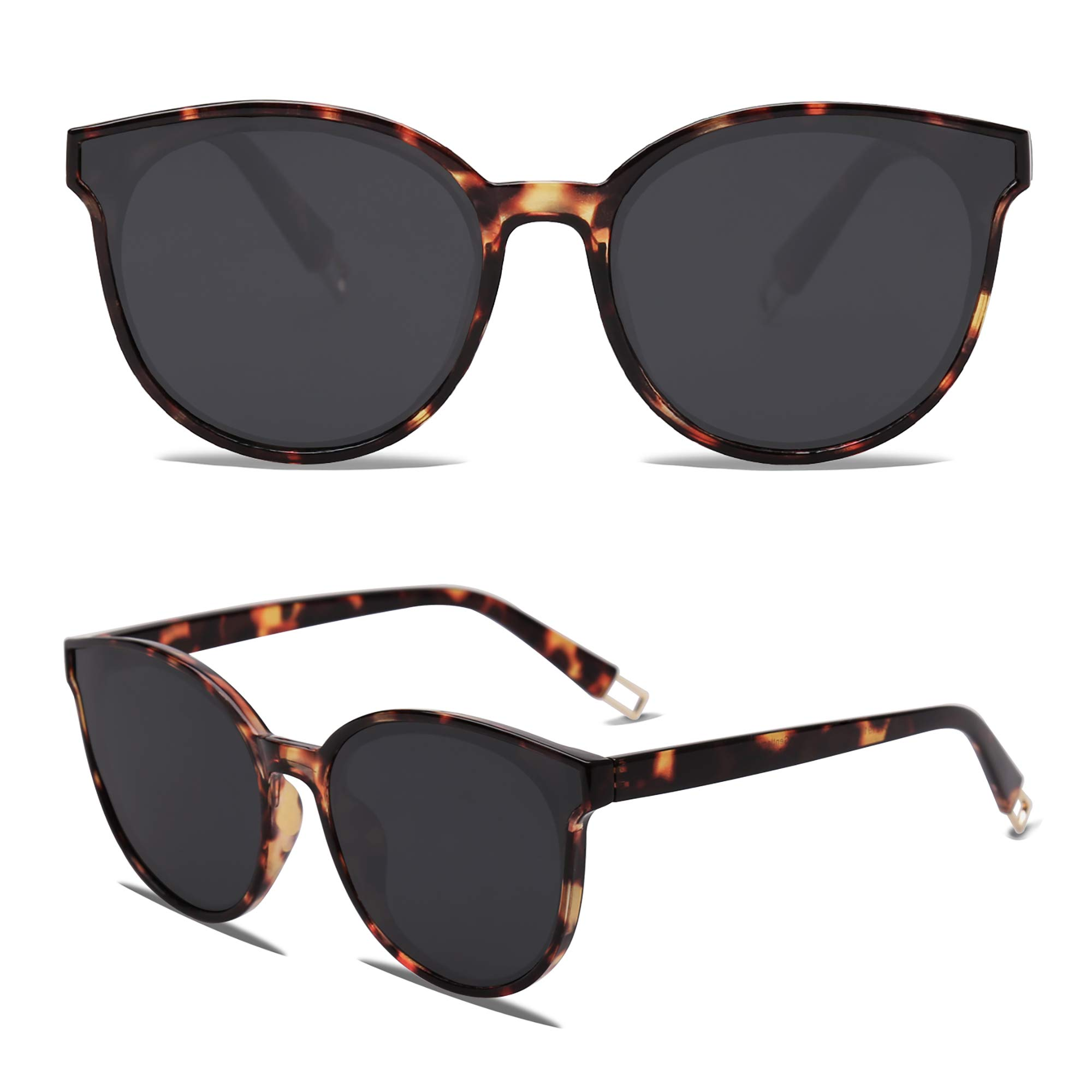 Fashion Round Sunglasses for Women Men Oversized Vintage Shades SJ2057