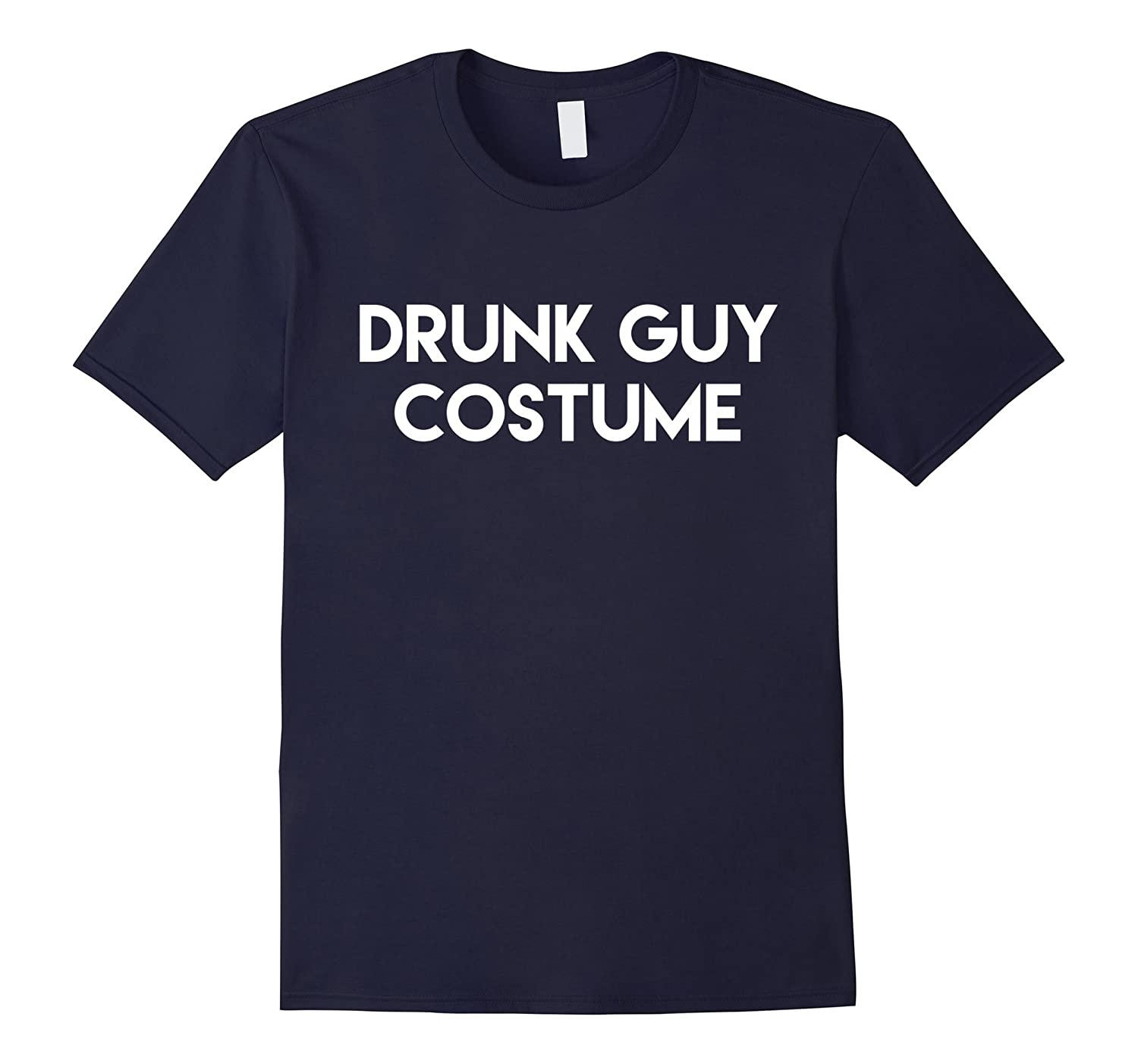 Drunk Guy Costume T-Shirt Funny Halloween Adult Tee-RT