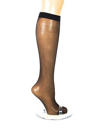 3 Pairs New Womens Ladies Plain Black Knee High Pop Socks  30 Denier One size
