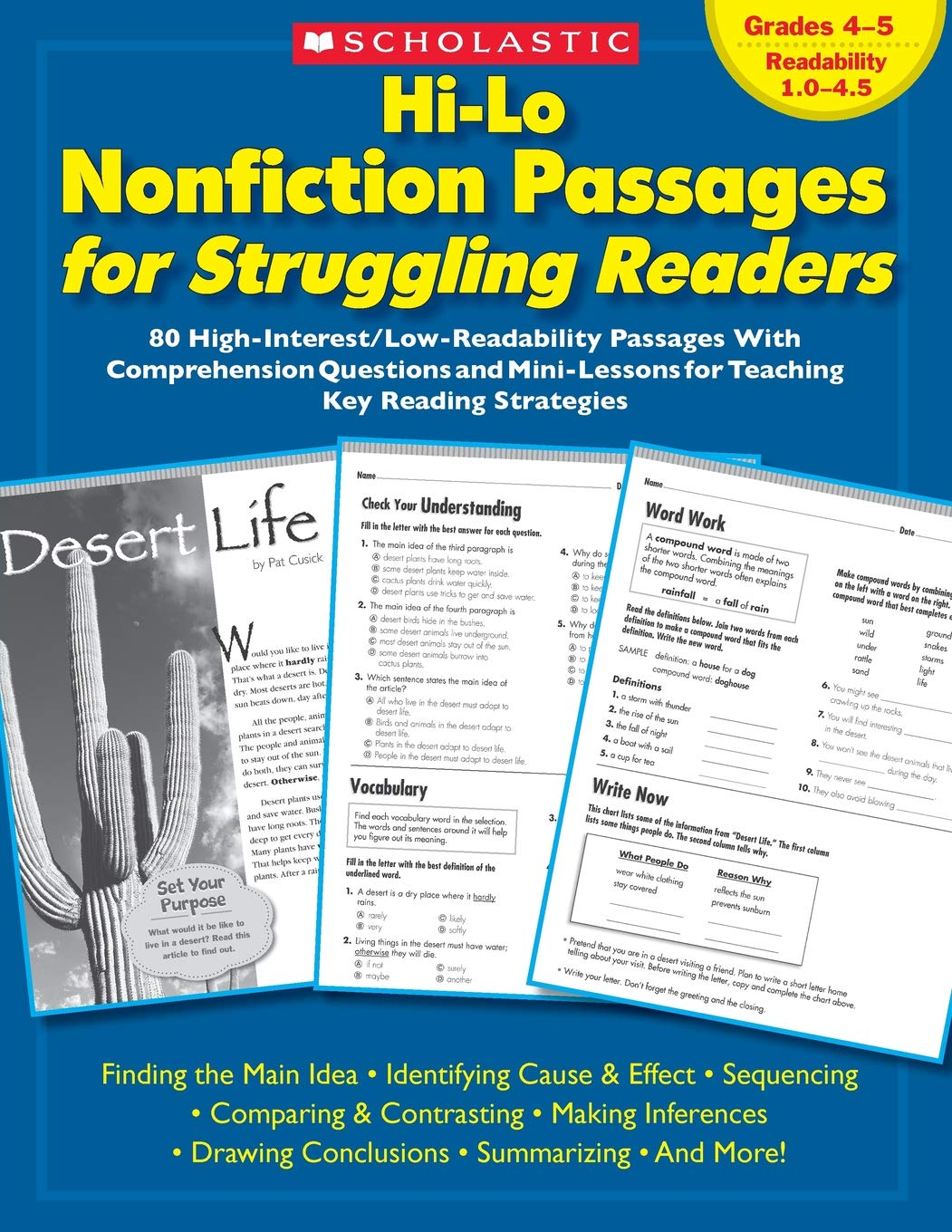 Hi-Lo Nonfiction Passages for Struggling Readers: 80 High ...