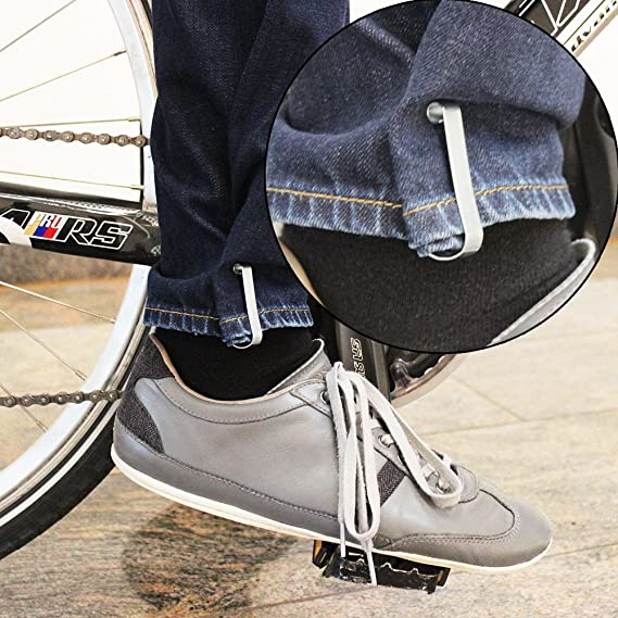 com-four/® 2X Hosenklammer aus Metall 2 St/ück Hosenspange zum Schutz Ihrer Kleidung beim Fahrradfahren