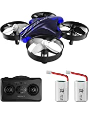 Mini Drone ATOYX AT66 RC Nano Quadcopter Best for Kids and Beginners RC Helicopter Plane with Altitude Hold Headless Mode Return Home Function 3D Flip Remote Control and Bonus Batteries Toys (Blue)
