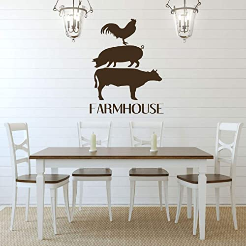 Amazoncom Farmhouse Wall Decor Farmhouse Vinyl Lettering And