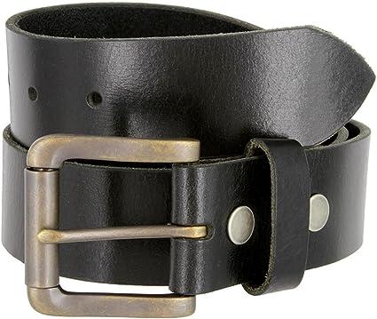 Pele Belt Men Genuine Italian Calfskin Smooth Embossed Silvered Buckle