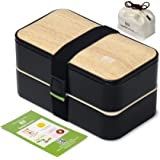 Original BentoHeaven Bento Box Bundle with FREE Lunch Bag, Divider, Utensils, Chopstick & Fun Lunch Box Notes…