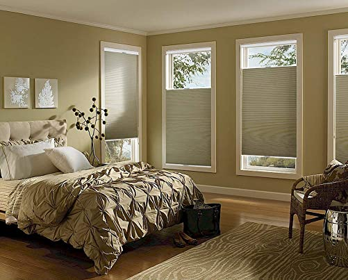 Keego Cordless Cellular Shades Top Down Bottom up Blackout, Custom Cut to Size Room Darkening Honeycomb Blinds for Home Office Window, White, 48 Wide x 78 High
