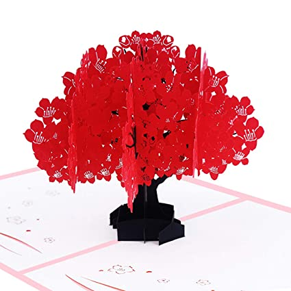Tarjeta desplegable Kapok, tarjeta 3D, tarjeta de árbol ...