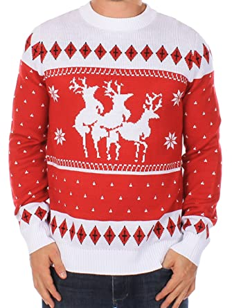 Ugly Christmas Sweater - Reindeer Menage a Trois Sweater by Tipsy ...