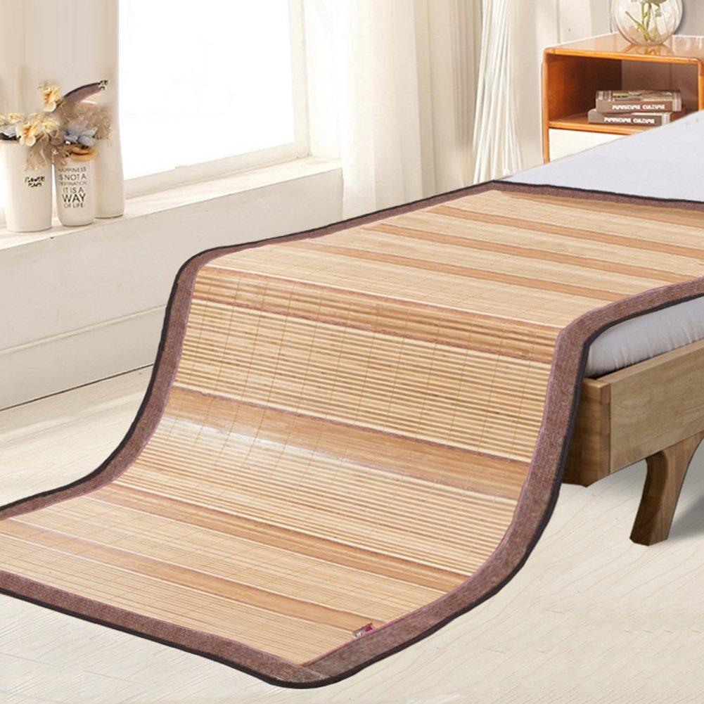 WENZHE Matratzen Bambus Matratzen Sommer-Schlafmatten Strohmatte Teppiche Einzelbett Doppelbett Zuhause Schlafzimmer Zusammenklappbar Auf Beiden Seiten Erhältlich, 3 Stile Strohmatte Teppiche