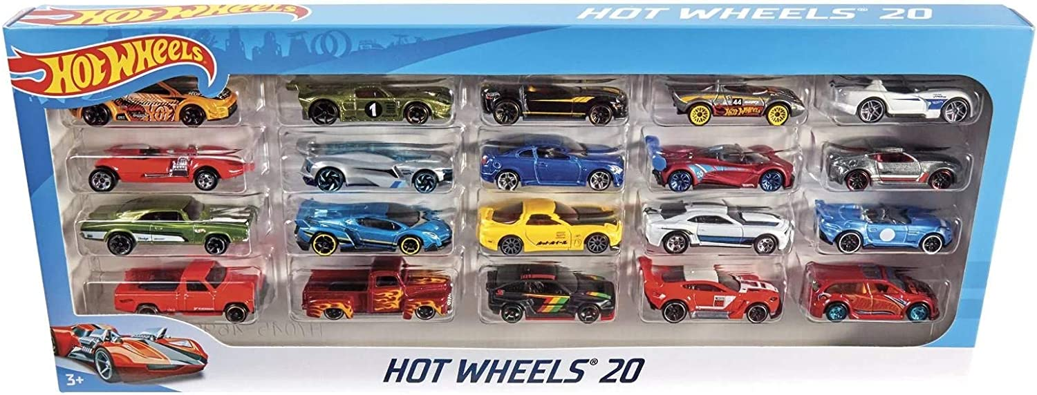 Mattel Hot Wheels H7045/Pack DE 20, Set de Regalo, Zufallige ...