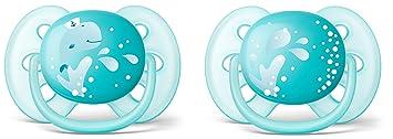 Philips Avent - Chupete ultrasuave, 6-18 meses azul Blau mit ...