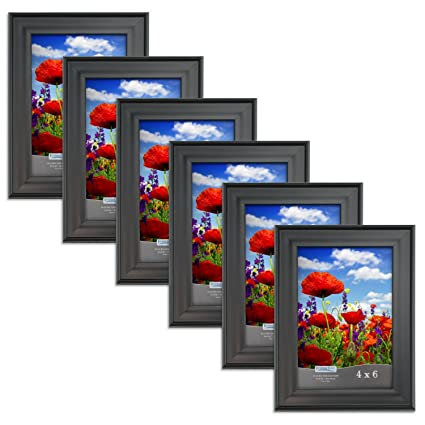 Amazon.com - Icona Bay 4 x 6 Inch Picture Frames (4x6, 6 Pack) Bulk ...