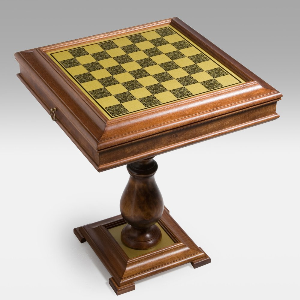 Beautiful Amazon.com: 3 In 1 Brass U0026 Wood Storage Game Table With Pedestal Base:  Kitchen U0026 Dining