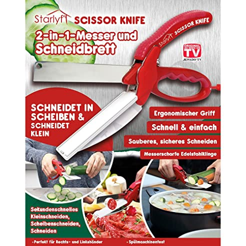 Starlyf Scissor Knife 2 In 1 Messer Und Schneidbrett   Original Aus TV  Werbung (