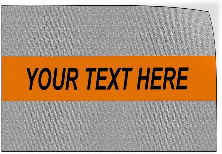 Custom Door Decals Vinyl Stickers Multiple Sizes Your Text Here Grey Orange Business Your Text Here Outdoor Luggage /& Bumper Stickers for Cars Blue 66X44Inches Set of 2