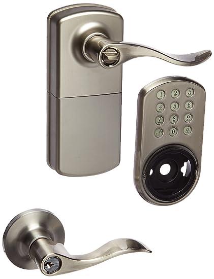 Milocks Tkl 02sn Digital Lever Handle Door Lock With Keyless Entry