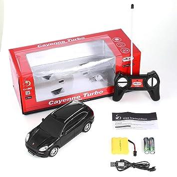 1:24 Escala LED Luces Radio Control Modelo de Coche Juguetes para Porsche Cayenne Turbo