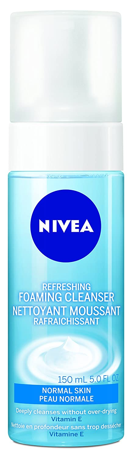 NIVEA Refreshing Foaming Facial Cleanser for Normal Skin, 150mL 056594005044