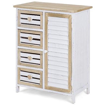 Giantex Floor Cabinet Standing Bathroom Storage Cabinet Organizer Cupboard W Single Shutter Door 4 Drawers And Storage Chest