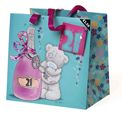 Me To You 21st Birthday Gift Bag Amazoncouk Kitchen Home