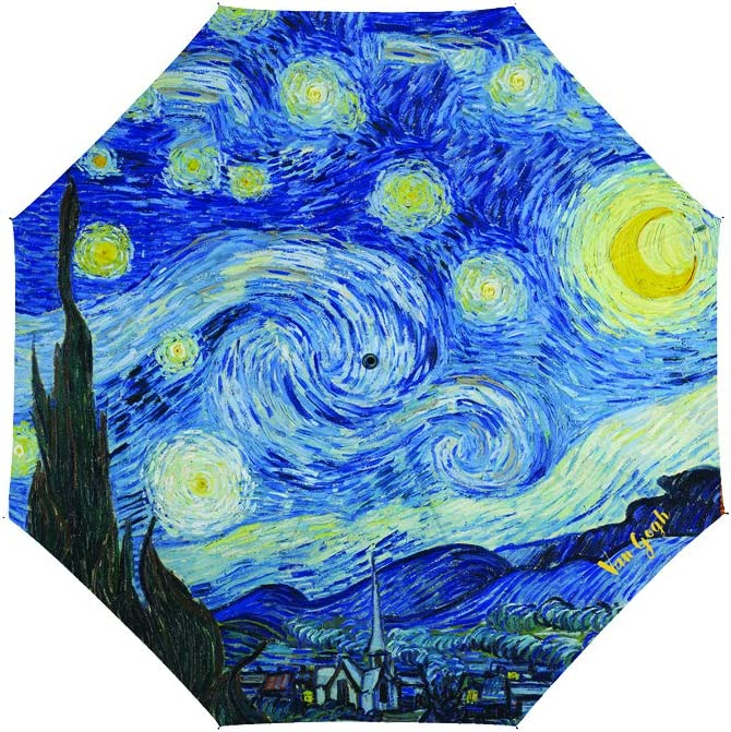Tessuto 116 x 116 x 116 cm Van Gogh Notte Stellata Ombrelli