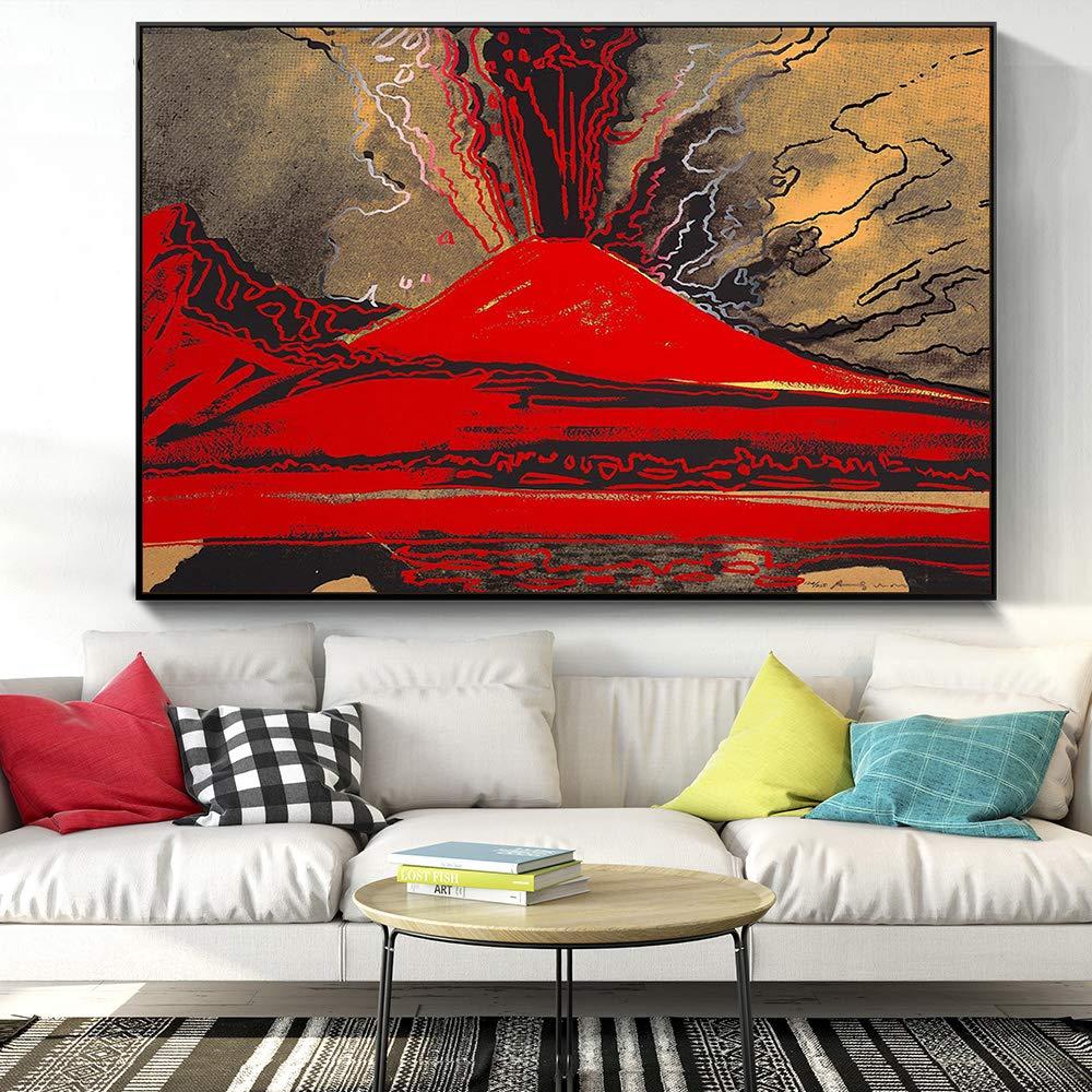 Disegno Yhyxll Immagini Per Pareti Di Grandi Dimensioni Di Andy Warhol Vesuvio Decorazioni Per La Casa Moderne Quadri Su Tela Dipinti Ad Olio Camera Da Letto 50x75cm Casa E Cucina Tourism Vratsa Net