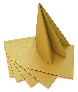 Deko Angels 100 Stück Servietten Gold Weihnachten Advent Stoffähnlich 40 X 40 Cm Zum Falten Weihnachtsservietten Festlich Goldene Hochzeit Top
