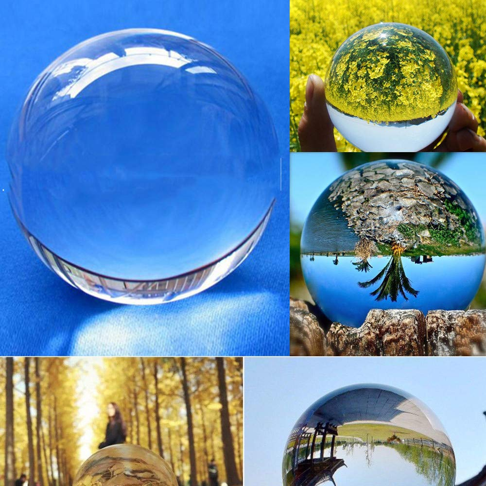 YJYdada Clear Glass Crystal Ball Healing Sphere Photography Props Lensball Decor Gift (40mm)