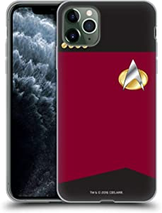 Head Case Designs Officially Licensed Star Trek Captain Uniforms and Badges TNG Soft Gel Case Compatible with Apple iPhone 11 Pro Max