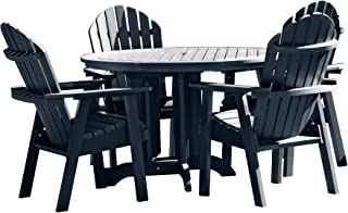 product image for highwood AD-DNA48-FBE Hamilton 5-Piece Round Set, Dining Height, Federal Blue