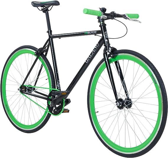 Galano 700c 28 Zoll Fixie Singlespeed Bike Blade 5 Farben Zur Auswahl Rahmengrösse 53 Cm Farbe Schwarz Grün Sport Freizeit