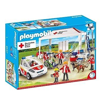 Playmobil 9537 Drk Tienda de campaña con Ambulancia vehículo de Emergencia