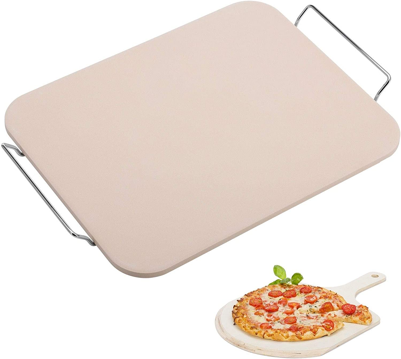 Westmark Pizza Piedra/Pan ladrillo/Pala para Pizza, cerámica, Beige, 38 x 30 cm
