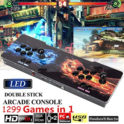 Sports & Entertainment Adroit Game Box Arcade Console 1299 Game In 1 Classic Games 2 Players Full Hd Video Game Console With Led Double Arcade Machine