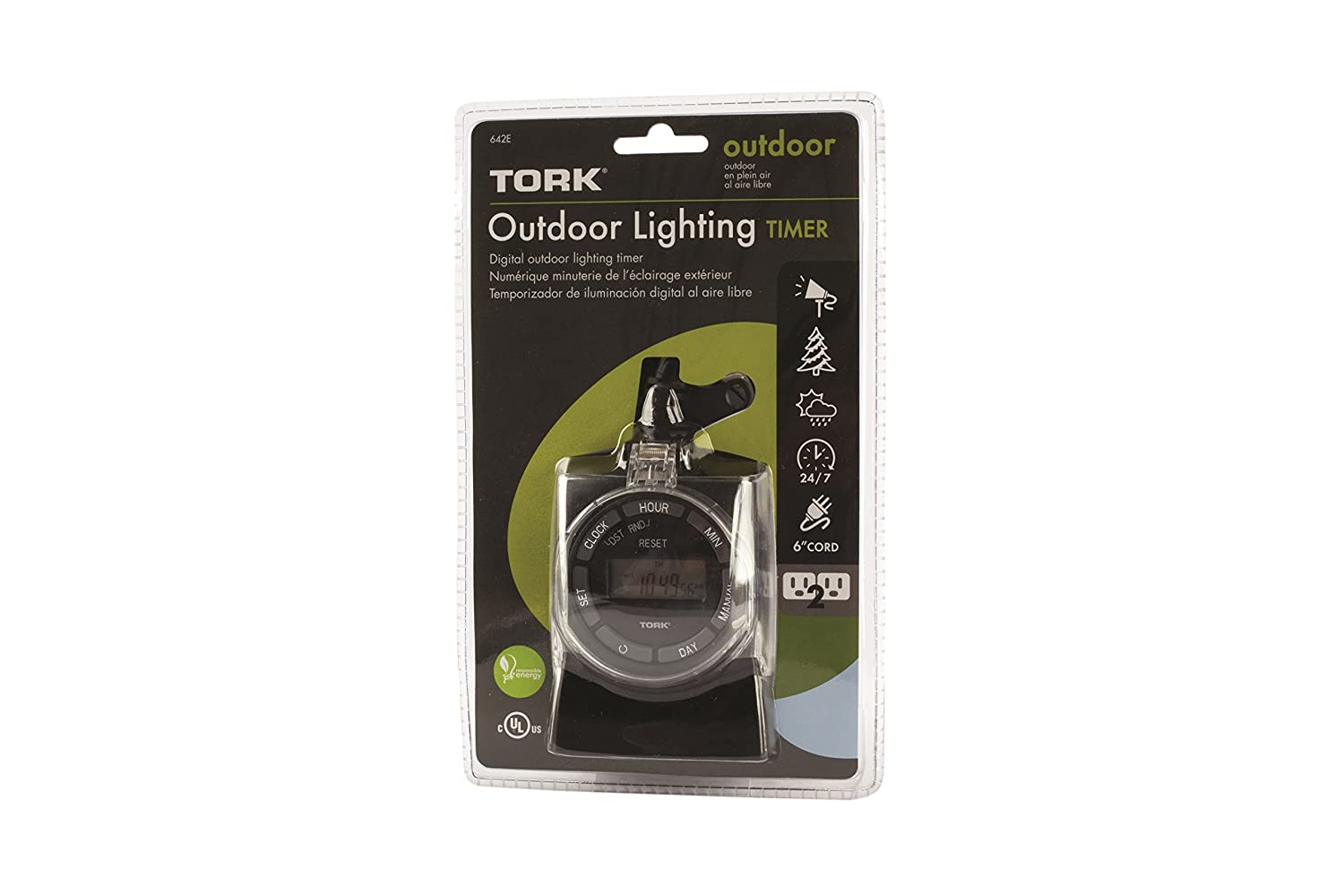 TORK 601A Plug-in Timer Outdoor General Purpose Mechanical Timer ...