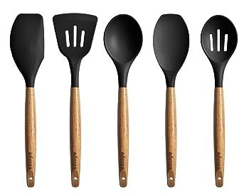 Miusco Non-Stick Silicone Cooking Utensils Set