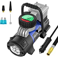 Mbrain Portable Air Compressor Pump - Upgraded DC 12V Small Digital Car Tire Inflator with… photo