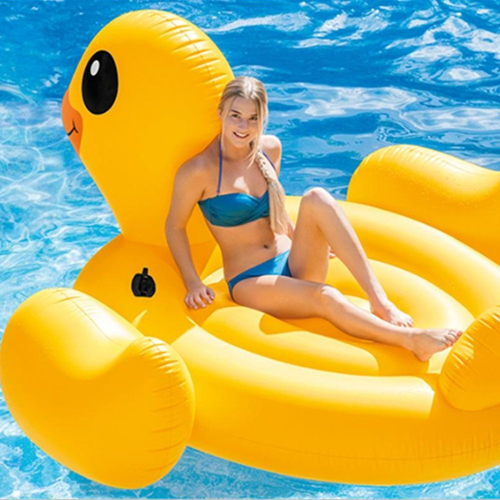 Fly Small Yellow Duck Floating Row Water Floating Row Recreation Floating Row Floating Ring Mount Inflatable Floating Row by Fly (Image #3)