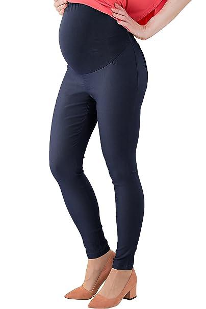 328a2e6c9 Sweet Mommy Stretchy Skinny - Pantalones de Maternidad de Color Azul Marino  en LL  Amazon.es  Ropa y accesorios