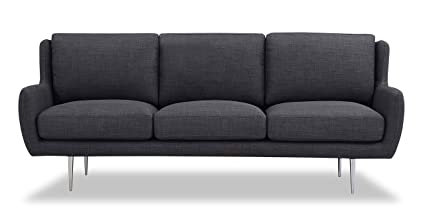 Amazon.com: Kardiel Nico Mid-Century Modern Sofa, Midnight ...