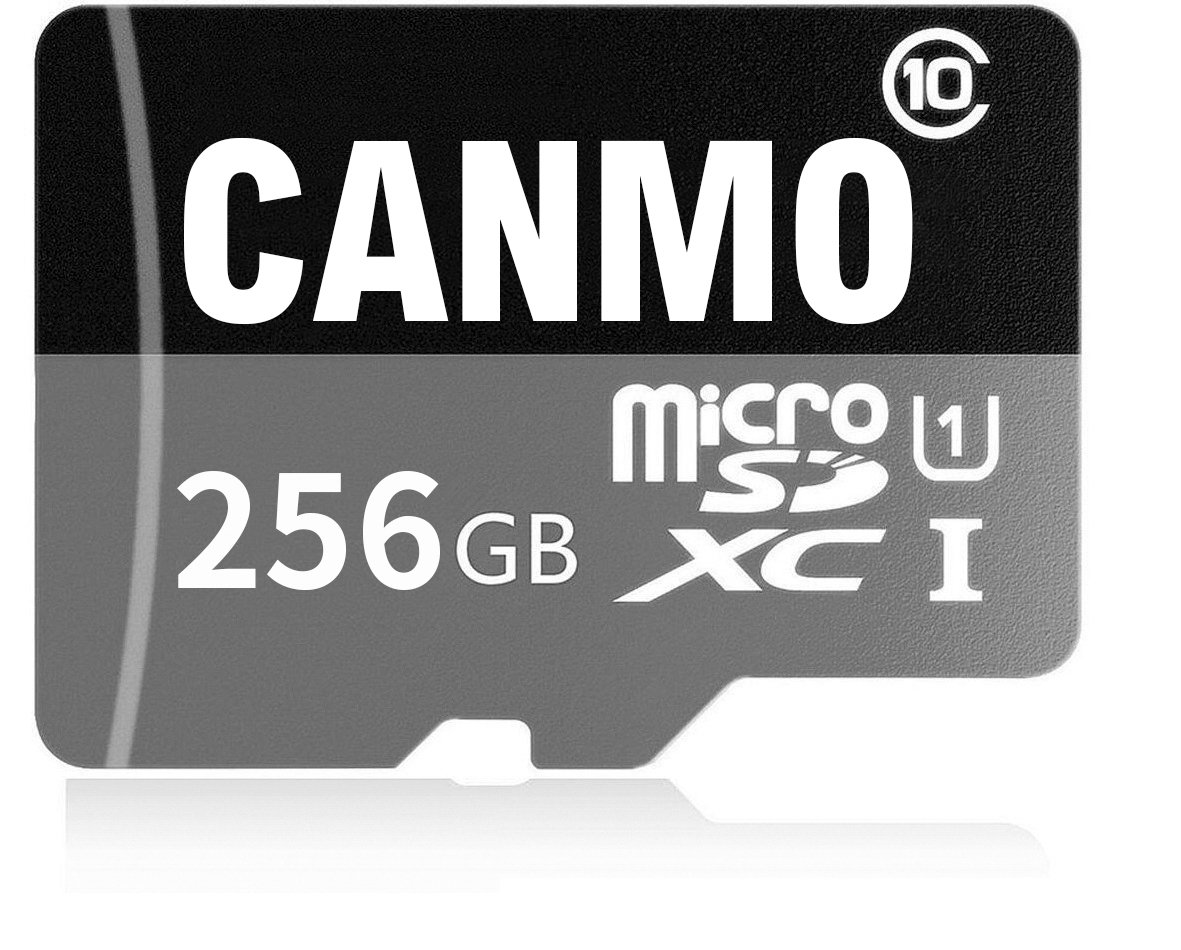 CANMO Micro SD Card 256GB High Speed Class 10 Micro SD SDXC Memory Card with Adapter